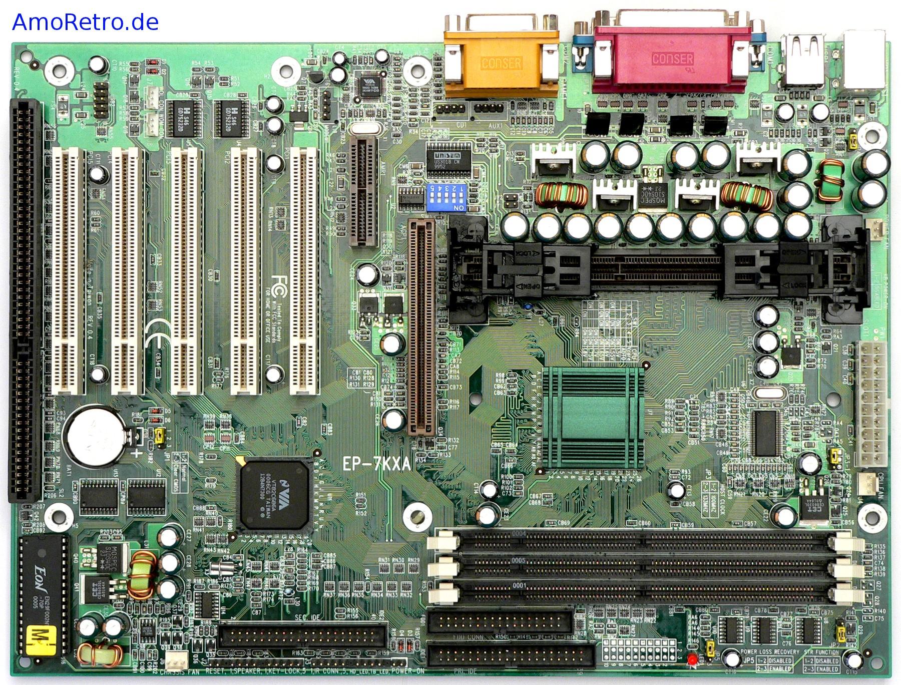 Epox 7KXA Motherboard, Slot A ...