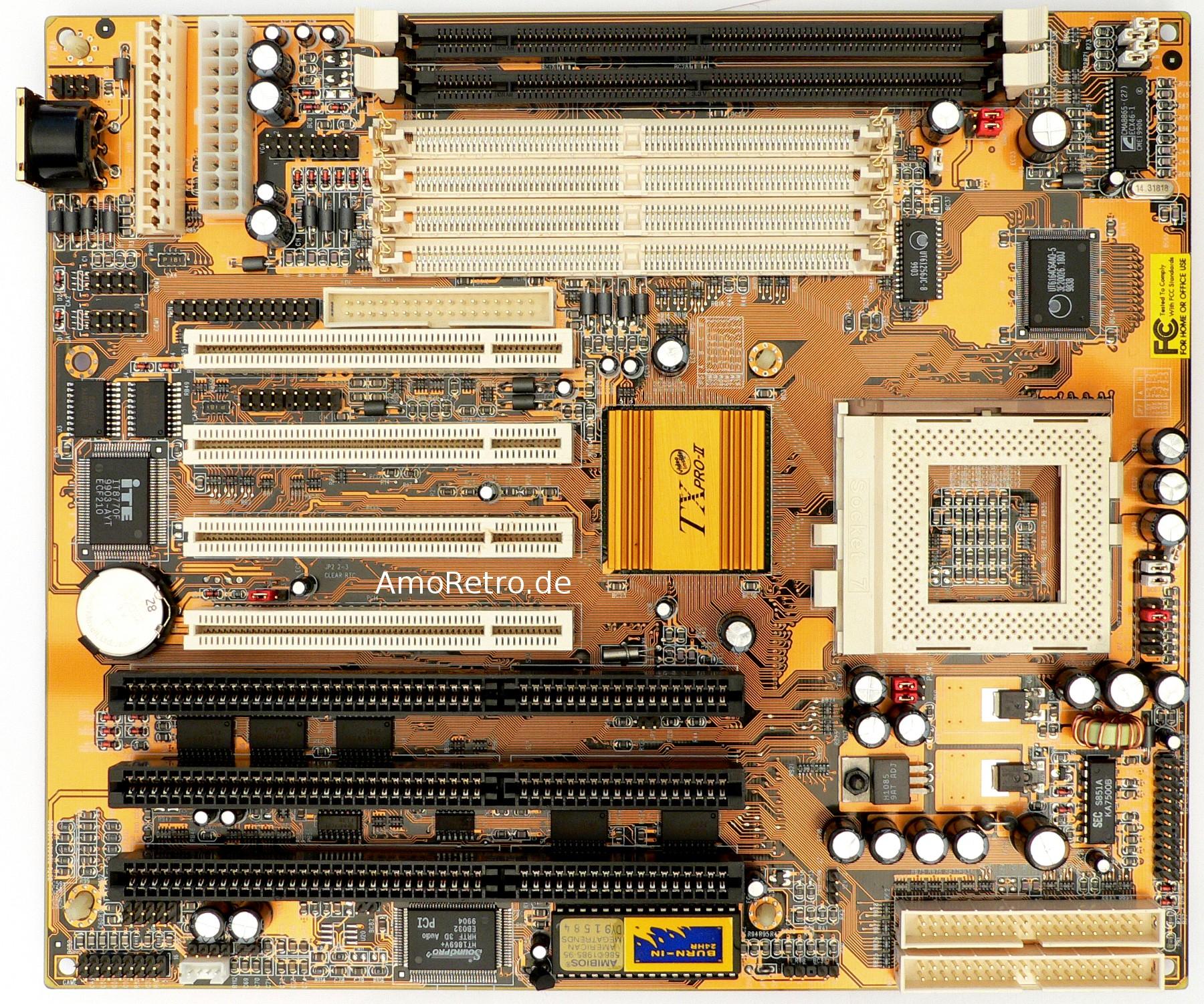 PC-Chips M571 V 7.0A (SiS 5598) Motherboard, Socket 7